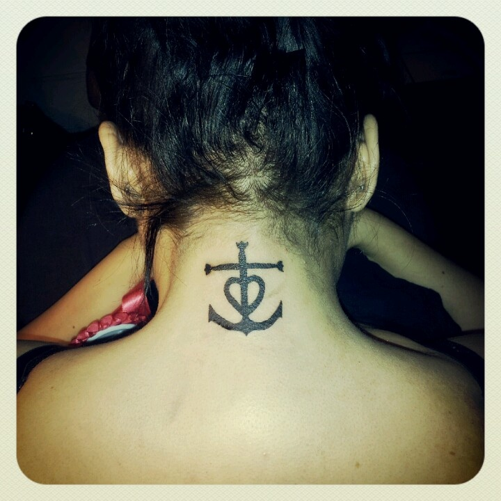 My New Tattoo Of A Cross Anchor Heart Intertwined Ideas And Designs