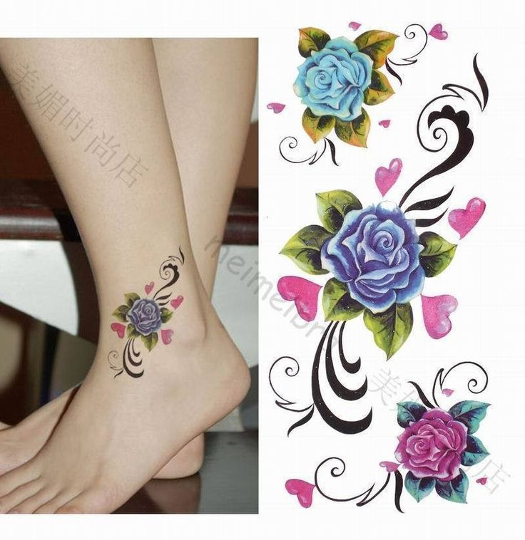 25 Best Ideas About Rose Ankle Tattoos On Pinterest Ideas And Designs
