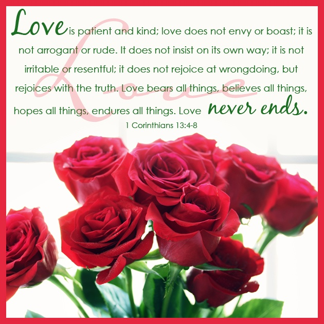 Bible Verse About Love 1 Corinthians 13 4 8 Bible Ideas And Designs