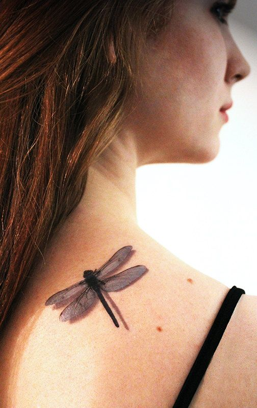 3D Dragonfly Temporary Tattoo By Tattoomint On Etsy 4 99 Ideas And Designs