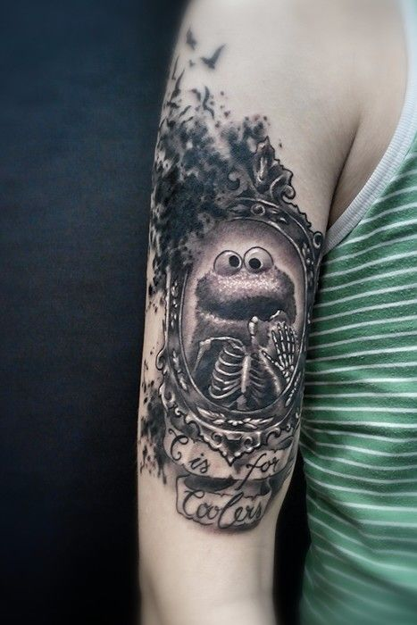 Cookie Monster Tattoo Cleanfun Portraits Pinterest Ideas And Designs