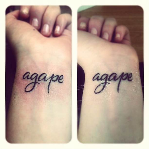 17 Best Ideas About Agape Tattoo On Pinterest Rib Ideas And Designs