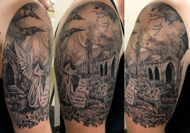 Cemetery Tattoo Designs Graveyard Scene Tattoo 2013 05 Ideas And Designs