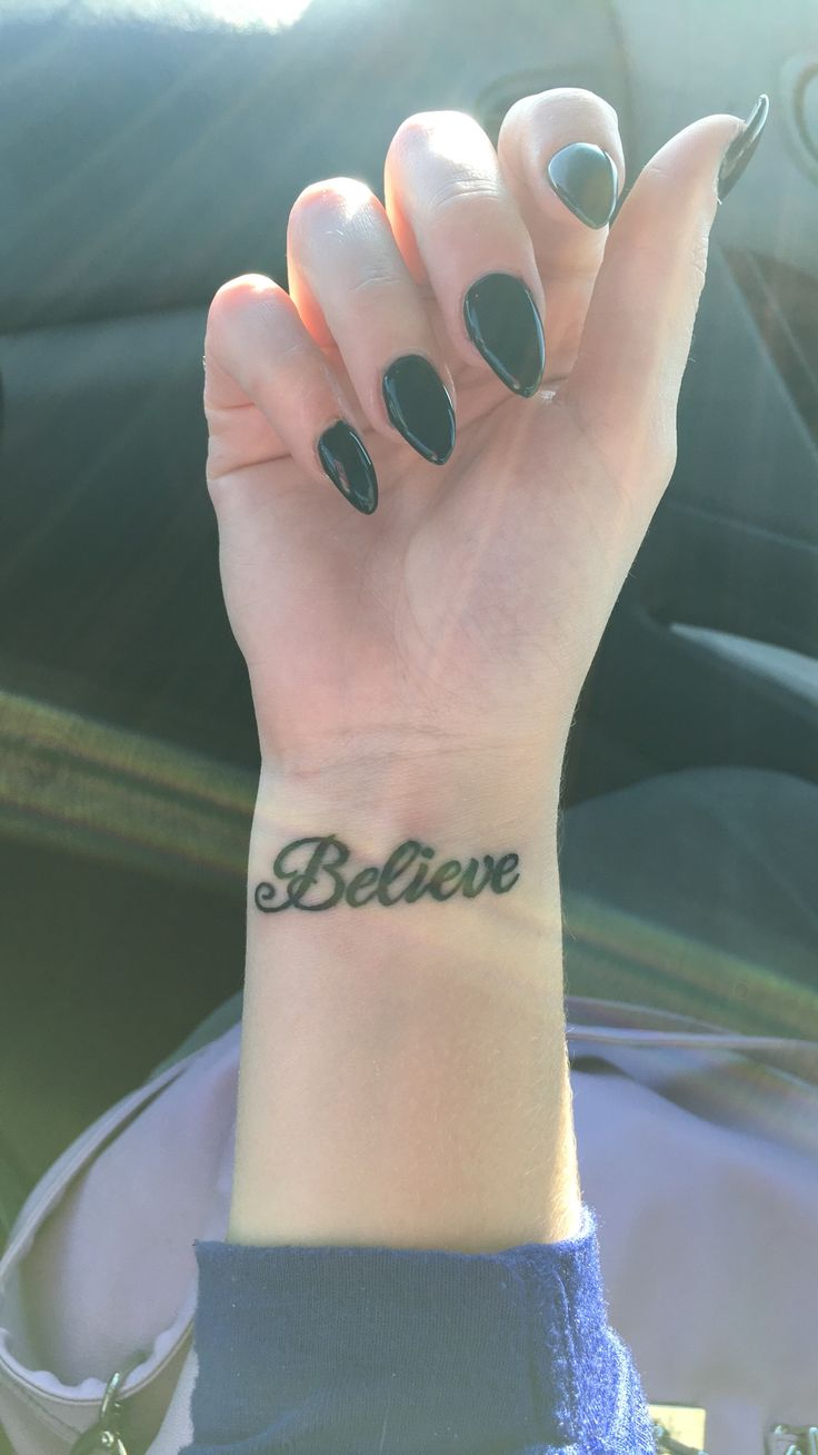 25 Best Ideas About Believe Tattoos On Pinterest Faith Ideas And Designs
