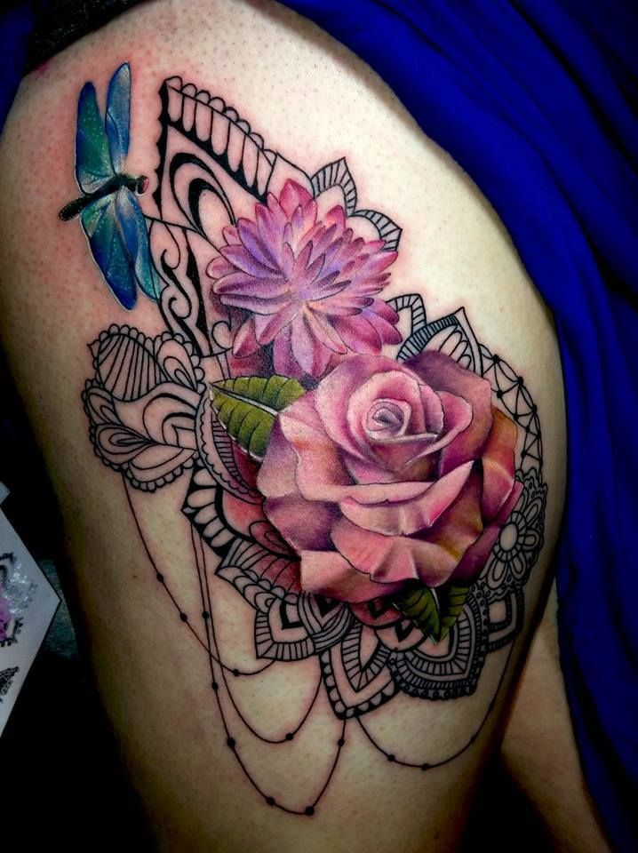 1000 Ideas About 3D Rose Tattoo On Pinterest 3D Tattoos Ideas And Designs