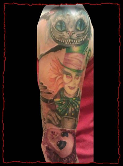 Alice In Wonderland Half Sleeve Tattoo Epidemic Ink Ideas And Designs