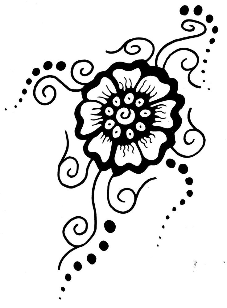 Printable Flower Stencil Patterns Mehndi Flower By Ideas And Designs