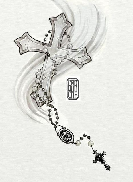 Drawings Of Crosses With Rosary Post Navigation Rosary Ideas And Designs