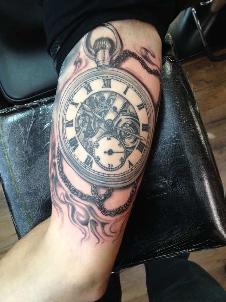 Pocket Watch Tattoo Tattoo Artist Chuck Schmidt The Ideas And Designs