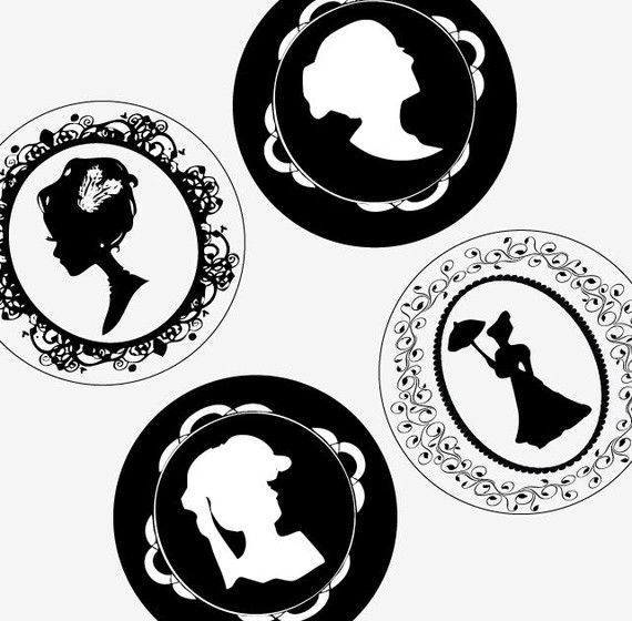 Victorian Cameo Designs One 1X1 Inch 25 Mm Round Ideas And Designs