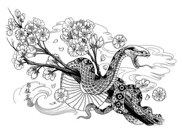 Japanese Style Tiger Snake Tattoos Google Search Ideas And Designs