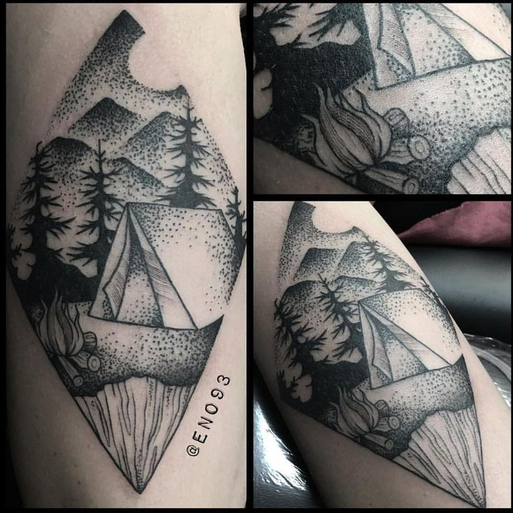 17 Best Ideas About Camping Tattoo On Pinterest Simple Ideas And Designs