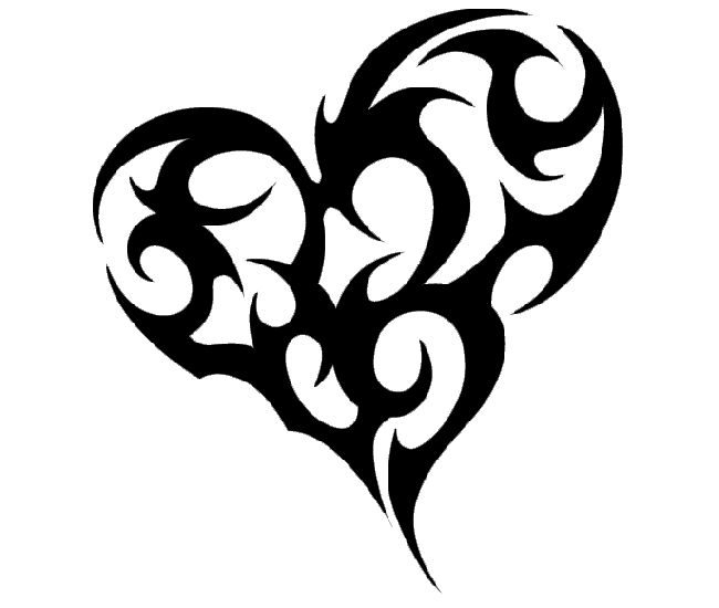 1000 Ideas About Tribal Heart Tattoos On Pinterest Ideas And Designs