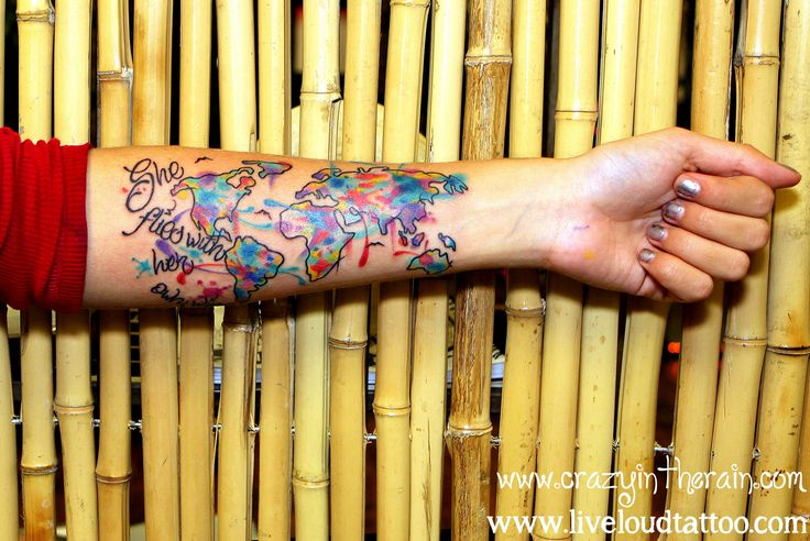 Travel Tattoo Backpacking Tattoo Map Tattoo Continents Ideas And Designs