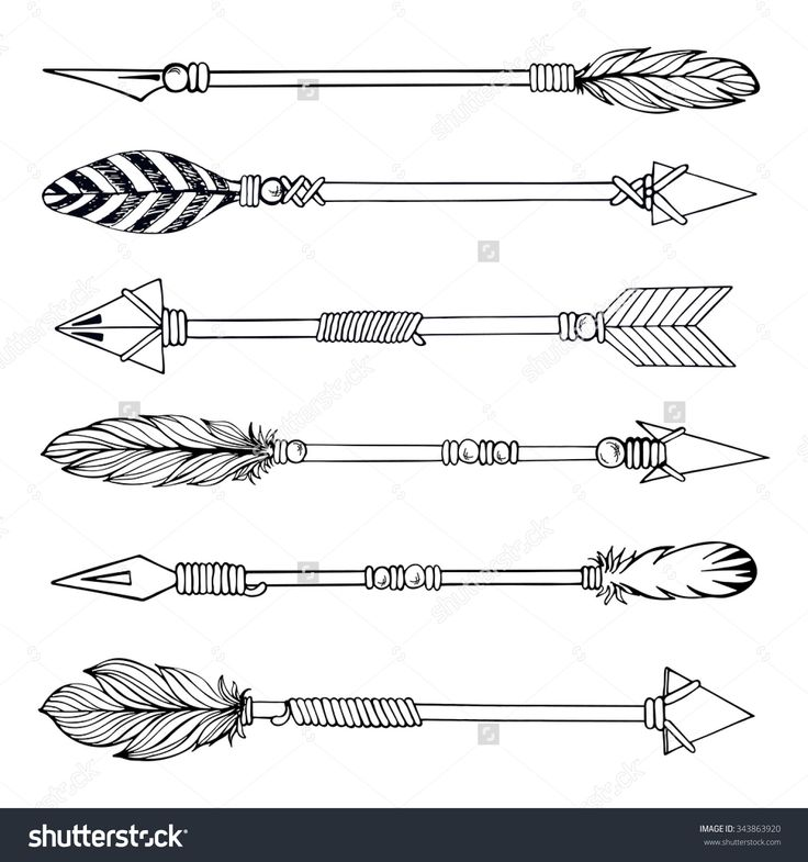 Tribal Indian Arrow Set Ethnic Hand Drawn Vector Ideas And Designs