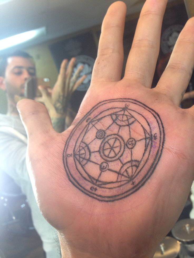 Hand Tat Full Metal Alchemist Transmutation Circle Ideas And Designs