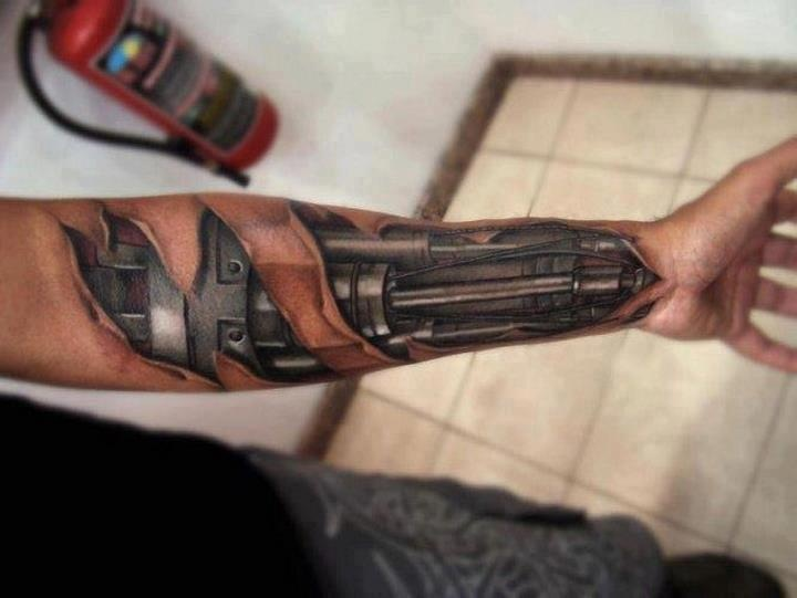Bionic Arm Tattoo Pinterest Fans Tattoos And Body Ideas And Designs