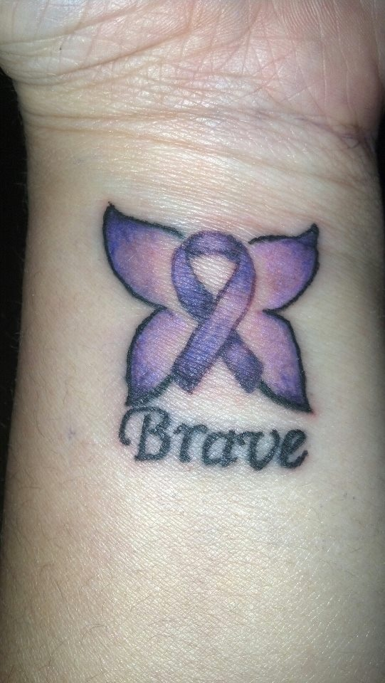1000 Ideas About Purple Ribbon Tattoos On Pinterest Ideas And Designs