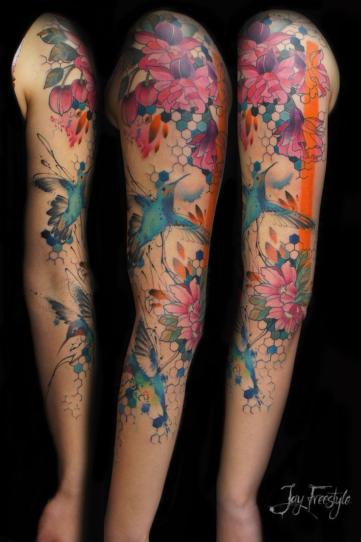 25 Best Watercolor Tattoo Sleeve Ideas On Pinterest Ideas And Designs