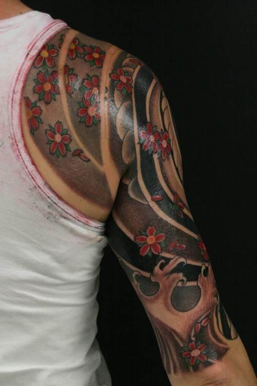Japanese 3 4 Sleeve Back View Japanese Tattoo Ideas And Designs