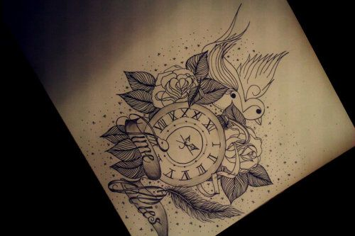 Time Flies Maybe A Pocket Watch With Old School Ideas And Designs