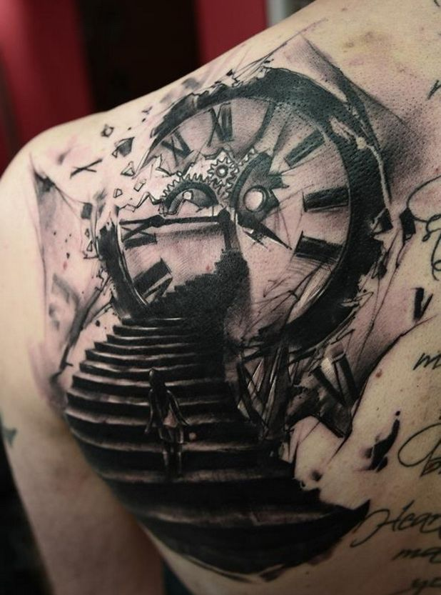 Best 25 Clock Tattoos Ideas On Pinterest Ideas And Designs