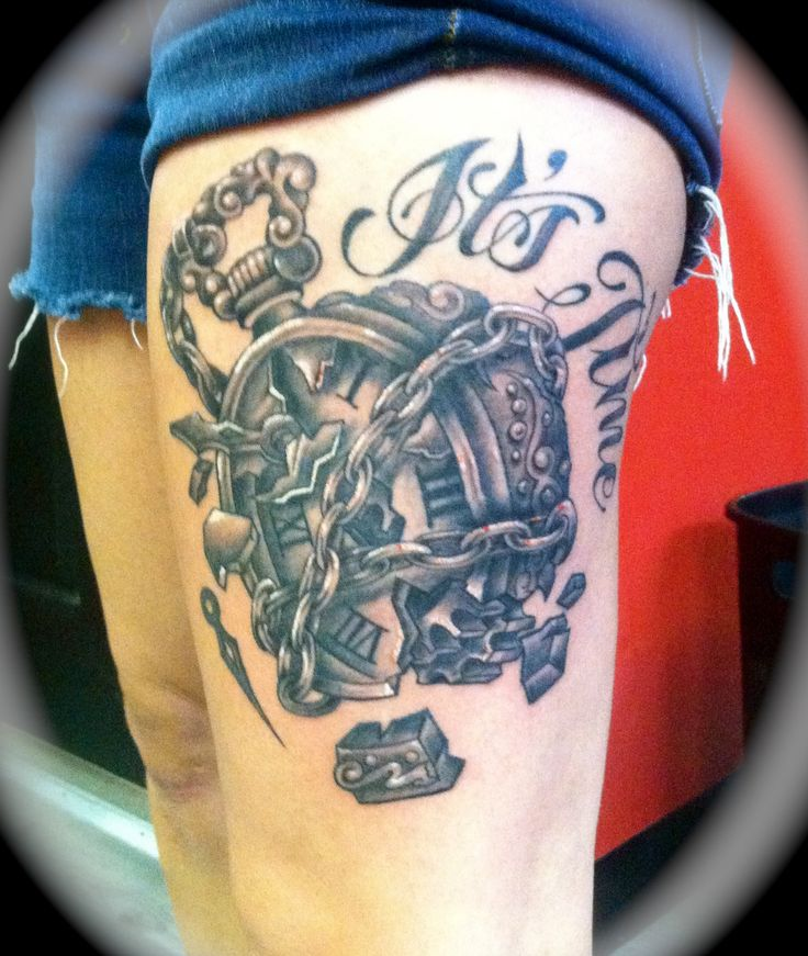 Finished Piece Broken Clock Tattoo It S Time Addicted Ideas And Designs