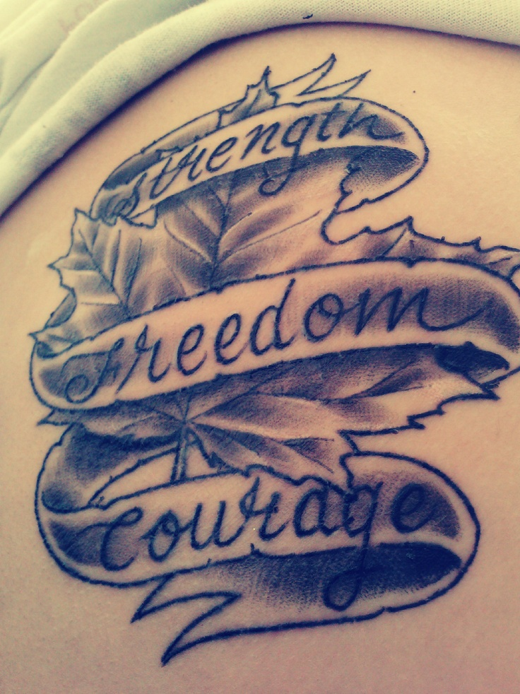 Proud To Be Canadian Tattoo Random Pinterest Ideas And Designs
