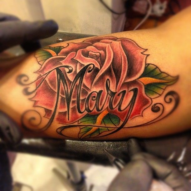 25 Best Ideas About Rose Tattoo With Name On Pinterest Ideas And Designs