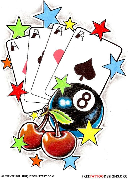 1000 Ideas About Card Tattoo On Pinterest Gambling Ideas And Designs