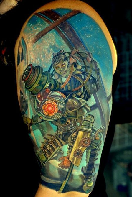 Bioshock Big Sister And Little Sister Tattoo Gamey Ideas And Designs