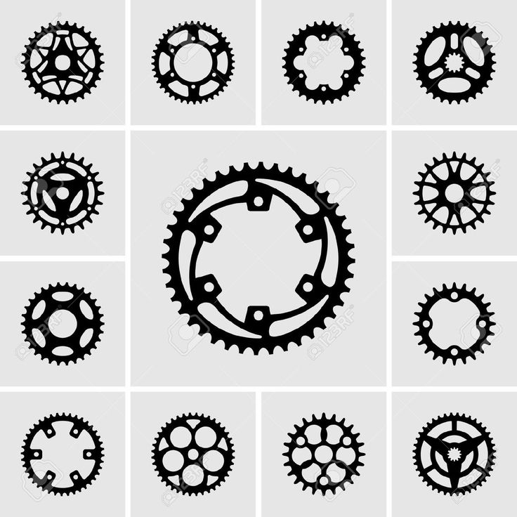 19413166 Set Of Sprocket Icons Stock Vector Bike Gear Ideas And Designs