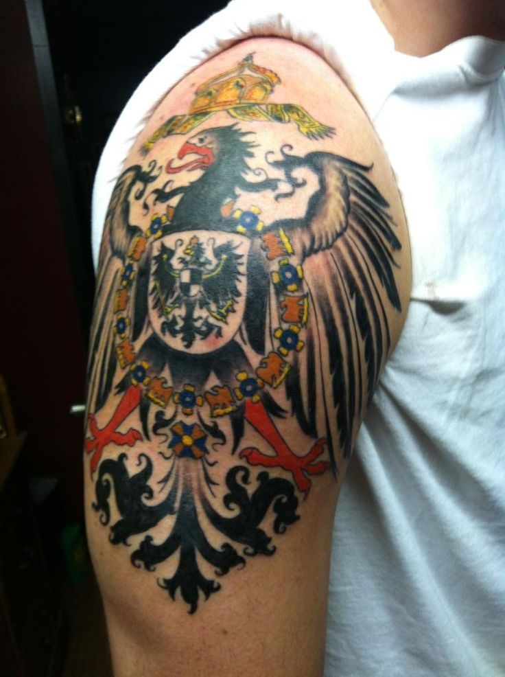 Finished 1890 S German Imperial Eagle Jonathan Roach Cherry Bomb Tattoo Clemson Sc Ideas And Designs