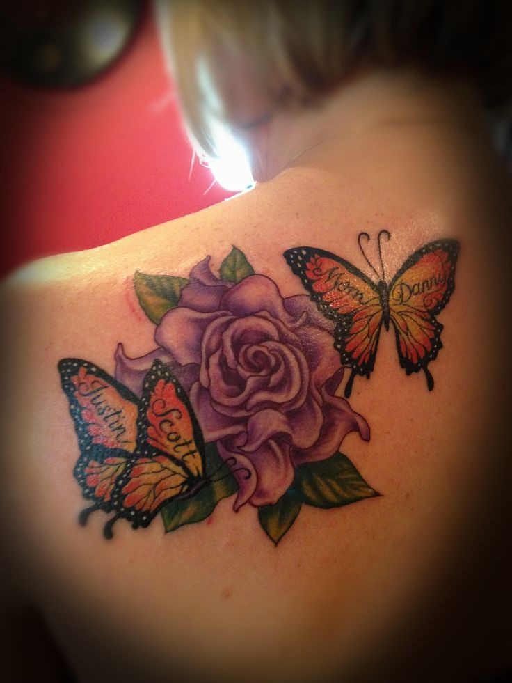 17 Best Ideas About Butterfly Tattoos With Names On Ideas And Designs