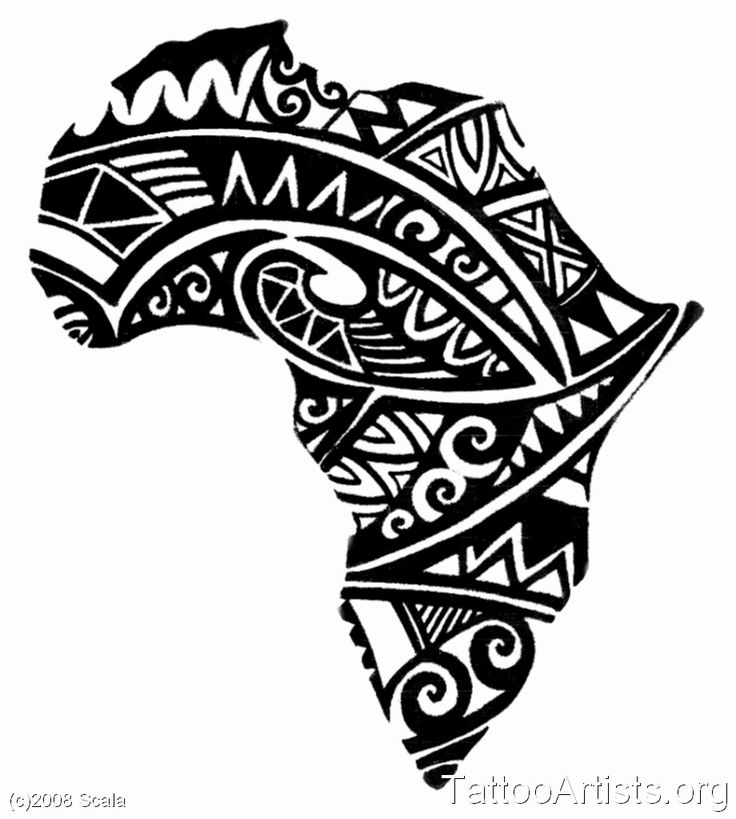 Black African Map Tattoo Design Jpg 920×1024 Ink Ideas And Designs