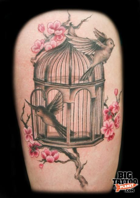17 Best Images About Bird Cage Tattoos On Pinterest Ideas And Designs
