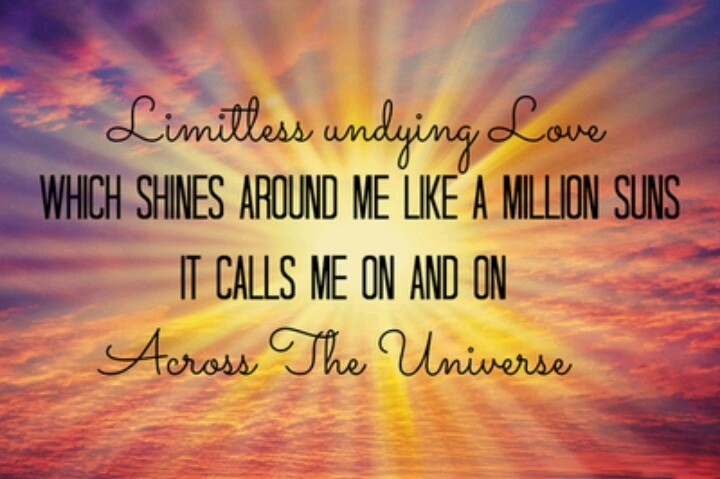 Across The Universe Beatles Lyrics ♥ This Tune Ideas And Designs