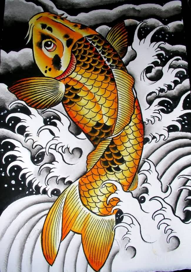 Best Golden Koi Fish Tattoo Design Beautiful My Style Ideas And Designs