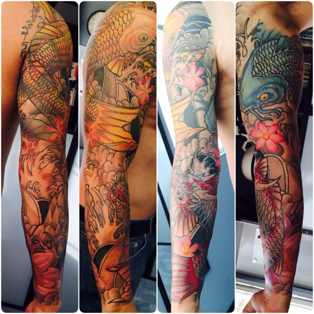Koi Sleeve Tattoo By Nephtali Lefty Brugueras Jr 12 Ideas And Designs