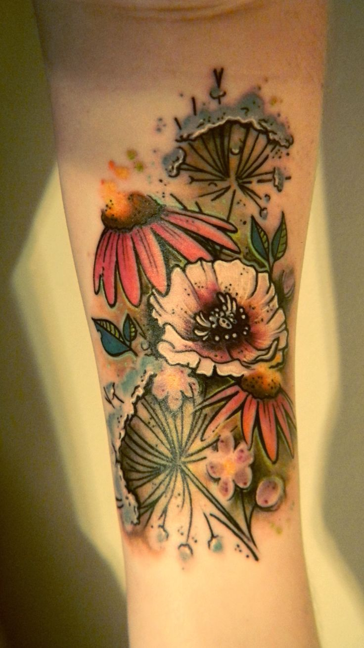 219 Best Wildflower Tattoo Images On Pinterest Ideas And Designs