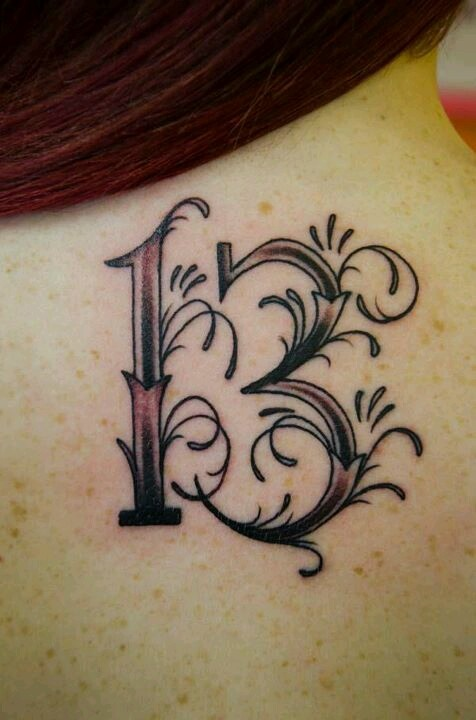 25 Best Ideas About Number 13 Tattoos On Pinterest 15 Ideas And Designs