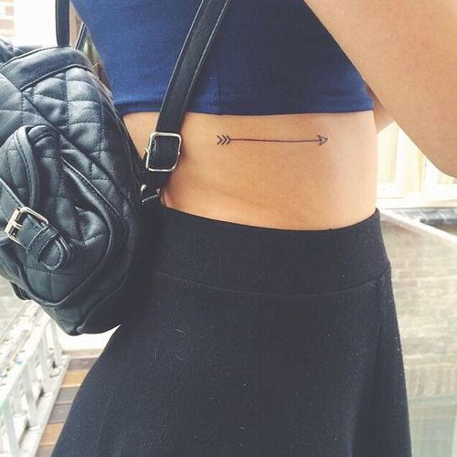 Small Arrow Tattoo Placement Girly Ink Permanent Ideas And Designs