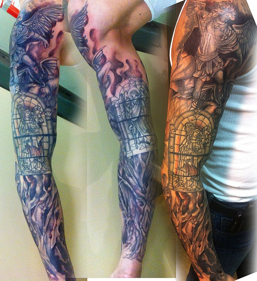 Tattoo Sleeve Coverup By Mikee H Tattoo On Deviantart Ideas And Designs