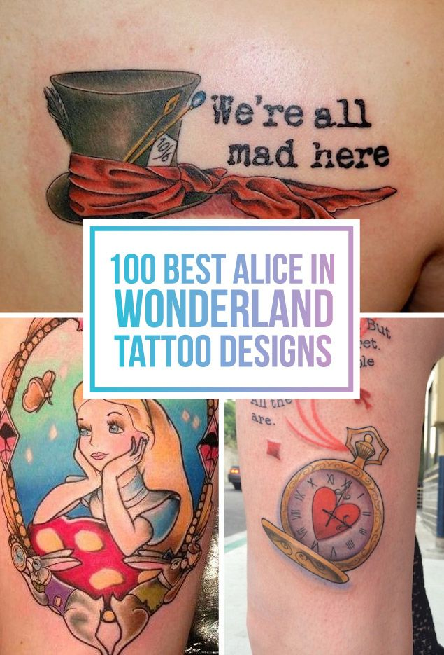 100 Best Alice In Wonderland Tattoos Wonderland Tattoo Ideas And Designs