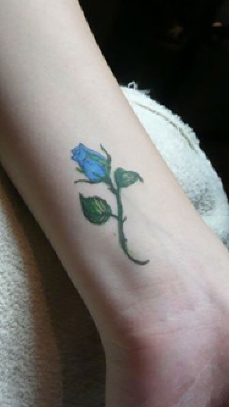 Blue Rose Bud Tattoo Perfect For Just About Anywhere So Ideas And Designs