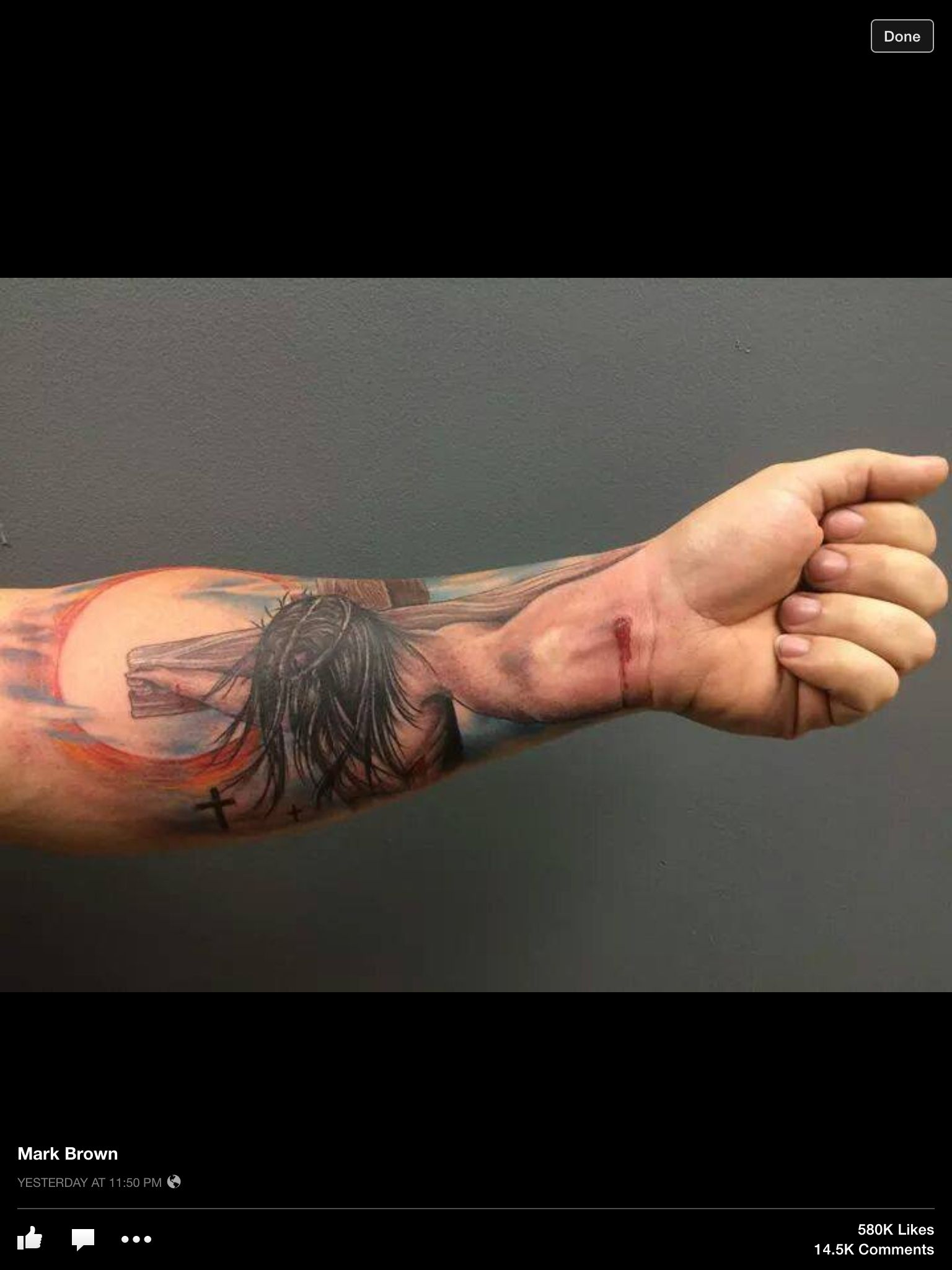 Crucified With Christ 3D Arm Wrist Tattoo I Have Been Ideas And Designs