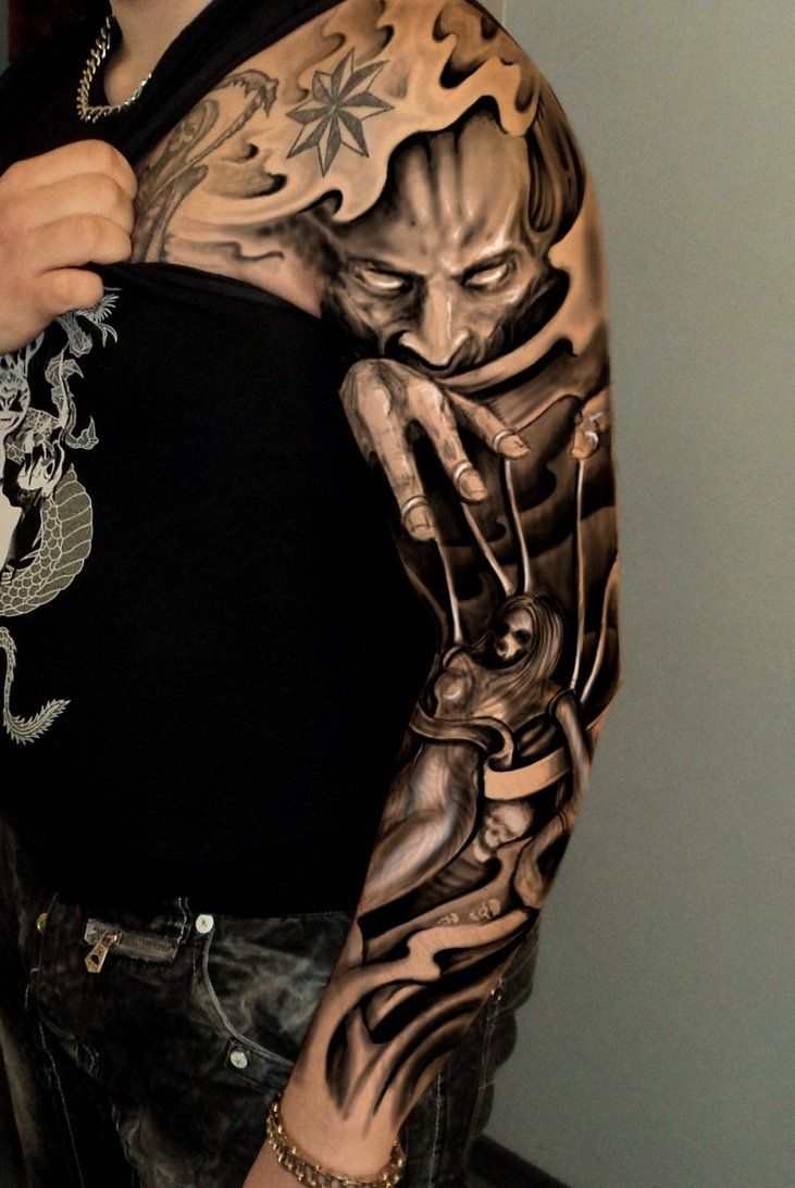 Japanese Tattoo Ideas For Sleeve 3D Chest Tattoo 3D Beautiful Full And Half Sleeve Tattoos Ideas And Designs