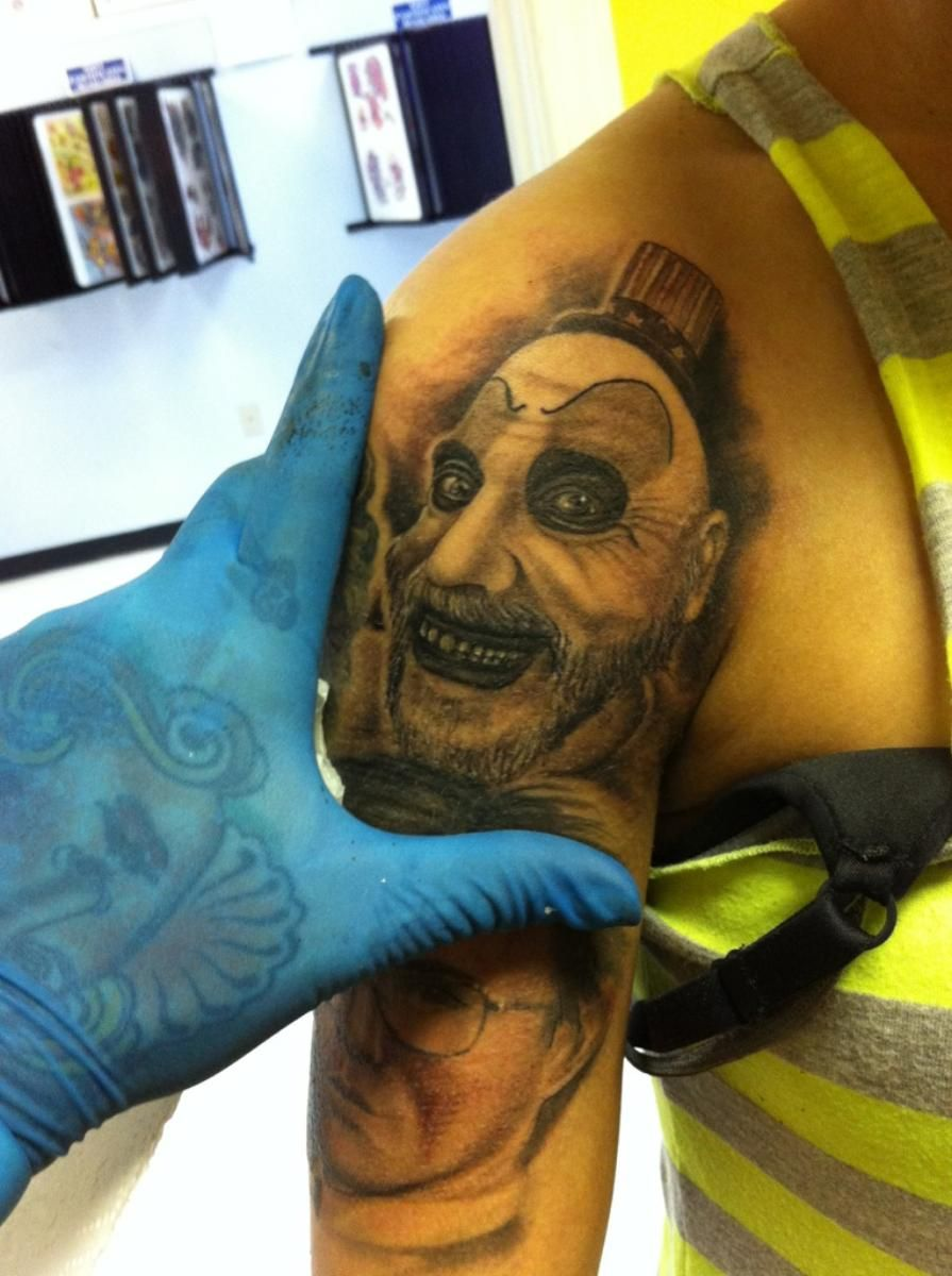 My Captain Spaulding Tattoo Done By Caroline Hedgepeth Ideas And Designs