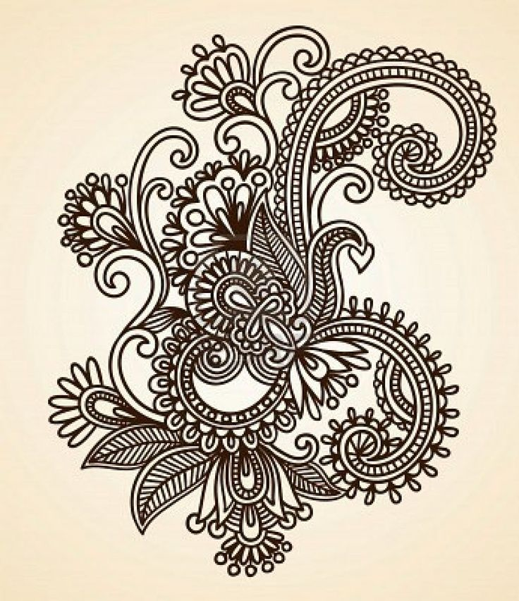 11189142 Hand Drawn Abstract Henna Mendie Flowers Doodle Ideas And Designs