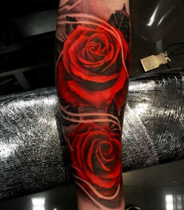 3D Rose Tattoo On Pinterest Purple Rose Tattoos Awesome Ideas And Designs